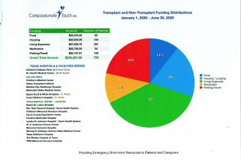 Compassionate Touch Jan - June 2020 Funding Report