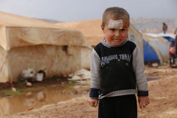 Syrian Child in an IDP Camp