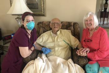 Caregivers with Robert at home LIVING out each day that is left