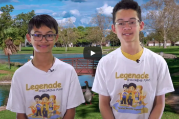 Legenade Children's Fund Founders, Ethan and Dylan